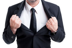 Powerfull and strong  business man Stock Photography