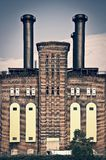 The powerhouse, ancient industrial brick building in Jersey city, New Jersey USA. The powerhouse, ancient industrial brick building in Jersey city, New Jersey stock photo