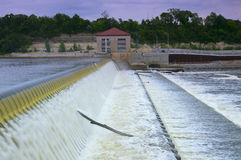 Powerhouse and Dam Spillway Stock Images