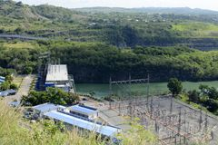Powerhouse of Magat River hydro electric dam in mountainous Ifugao. Alfonso Lista, Ifugao, Philippines - May 4, 2017: Powerhouse of Magat River hydro electric Royalty Free Stock Photo