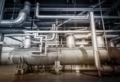 Powerhouse pipe system Stock Photo