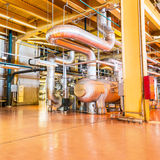 Powerhouse pipe system Royalty Free Stock Photo