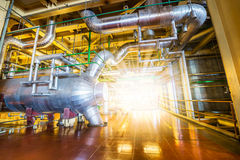 Powerhouse pipe system Stock Images