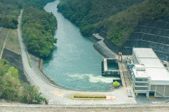 Powerhouse Srinakarin dam Royalty Free Stock Photography