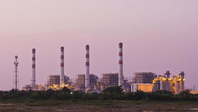 Powerhouse in twilight. Stock Images