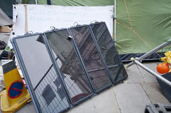 Powering Occupy London by Solar Energy Stock Photo