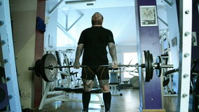 Powerlifter stock video footage