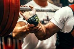 Powerlifter del atleta fotografía de archivo