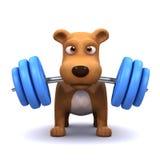 powerlifter du chien 3d Photos libres de droits