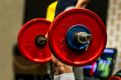 Powerlifter exercise deadlifts Royalty Free Stock Image