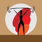 Powerlifter femenino Fotografía de archivo libre de regalías