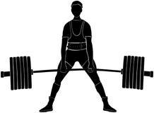 Powerlifter masculin d'athlète Photographie stock