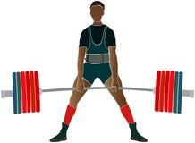 Powerlifter masculin d'athlète Image libre de droits