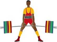 Powerlifter masculin d'athlète Photo stock