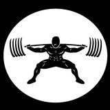 Powerlifter Squatting Heavy Weights Royalty Free Stock Photos