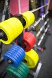 powerlifting的重量 免版税库存图片