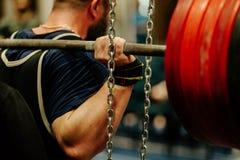 powerlifting back male athlete stock photos