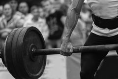 Powerlifting competitions in the street Royalty Free Stock Image