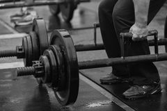 Powerlifting competitions in the street Stock Images