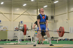 Powerlifting event - deadlift lift Royalty Free Stock Photography