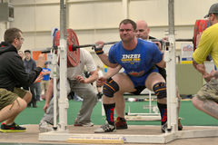 Powerlifting event - squat lift Royalty Free Stock Photo