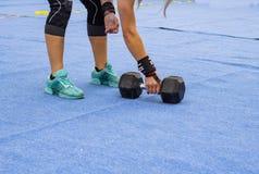 Powerlifting konkurrensbakgrunder fotografering för bildbyråer