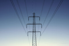 Powerline Royalty Free Stock Photos