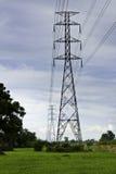 Powerline ad alta tensione Fotografia Stock