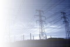 Powerline background Royalty Free Stock Photo