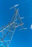 Powerline i błękitny jasny niebo Obraz Stock