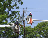 Powerline Maintenance Royalty Free Stock Photo