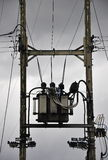 Powerline pole and transformer distribution Stock Images