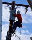 Powerline pracownik w Południowym Kalifornia Obraz Stock