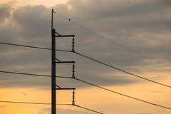 Powerline słup Zdjęcie Stock