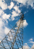 Powerline on a summer day. Rising high Royalty Free Stock Images