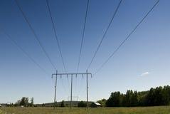 Powerline in Svezia fotografia stock