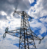 Powerline tower. And heavy sky Stock Photo