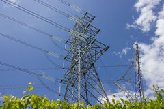 Powerline tower. Long lines of powerline tower Royalty Free Stock Photography