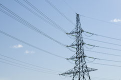 Powerline tower Royalty Free Stock Photos