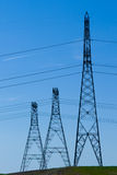 Powerline towers Stock Photography