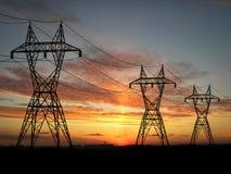 Powerlines Royalty-vrije Stock Foto