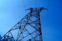 Powerlines. Pole Stock Photo