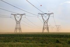 Powerlines Arkivbild
