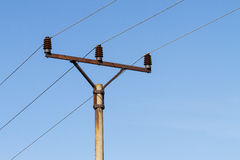 Powerlines against Royalty Free Stock Photos