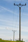 Powerlines against Stock Image