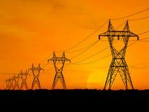 powerlines elektryczne ilustracja wektor