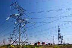 Powerlines elettrici Immagini Stock