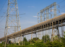 Powerlines Structure Royalty Free Stock Photo