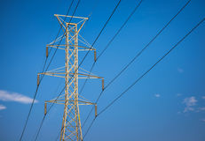 Powerlines Structure Royalty Free Stock Photography