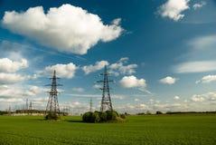 Free Powerlines Under Clowdy Sky Royalty Free Stock Image - 5219936